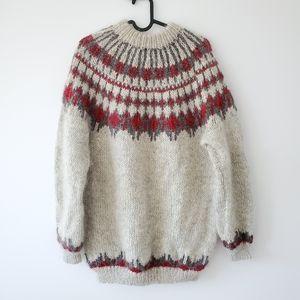handknit oversized wool sweater